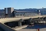 Terminal 1 AirTrain station facing west, August 2018.JPG
