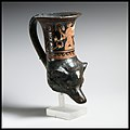 Terracotta rhyton in the shape of a dog's head MET DP1667.jpg