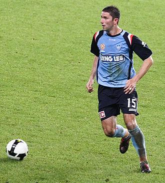 Terry McFlynn - McFlynn playing for Sydney FC in 2009