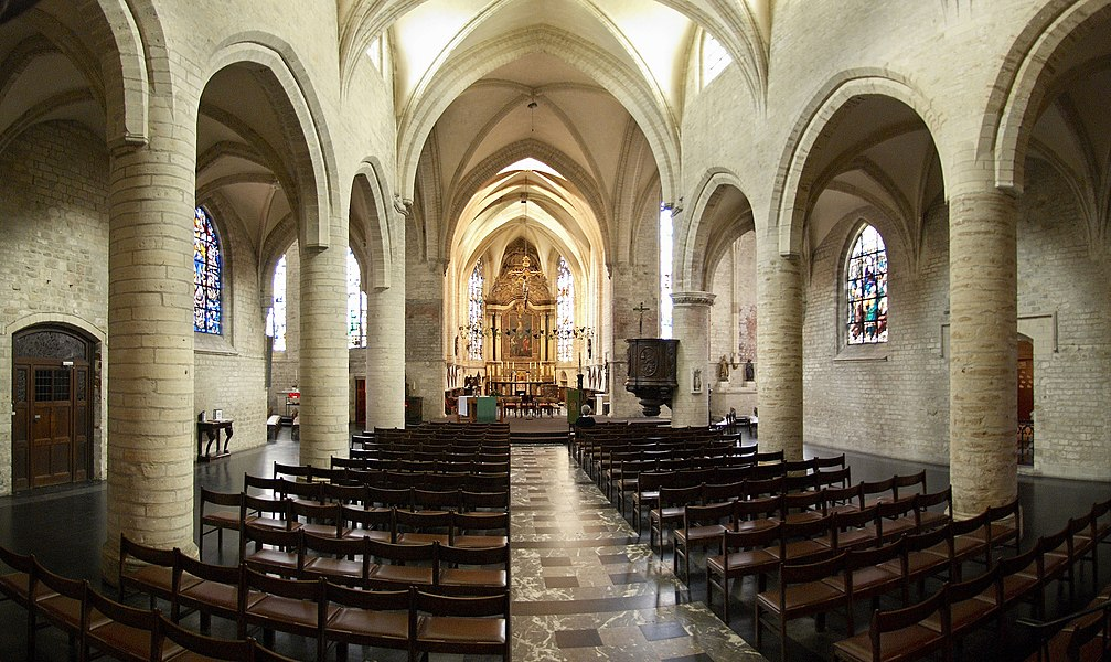 Inside Sint-Jan Evangelist church in Tervuren, Belgium