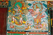 A thangka painting in Sikkim