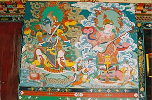 A Thanka painting inside the Namgyal Institute...