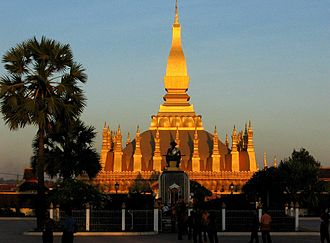 Kerry and Kay Danes - Pha That Luang in Vientiane is the national symbol of Laos