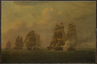 The Anson's Escape from five frigates, 12 October 1798