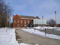 View of Humber College's Lakeshore Campus near Lake Shore Boulevard