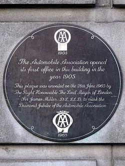 Photo of Automobile Association black plaque