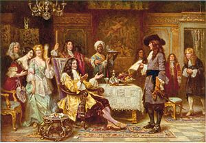 History of Pennsylvania - The Birth of Pennsylvania depicts William Penn receiving Pennsylvania's royal charter from King Charles II of England. Penn founded the colony in 1681 as a refuge for Quakers.