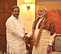 The Chief Minister of Karnataka, Shri Siddaramaiah calling on the Prime Minister, Shri Narendra Modi, in New Delhi on June 04, 2014.jpg