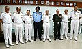 The Chief of Army Staff, General Bipin Rawat, the Chief of the Air Staff, Air Chief Marshal B.S. Dhanoa and the Chief of Naval Staff, Admiral Sunil Lanba at the Commanders' Conference 2017, in New Delhi on October 25, 2017 (1).jpg