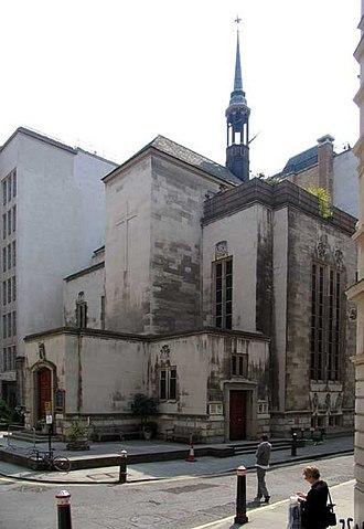 Dutch Church, Austin Friars - The world's oldest Dutch reformed church