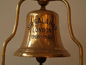 RFA Sir Galahad (1966) - Sir Galahad's bell in The Falkland Islands Memorial Chapel, Pangbourne, Berks