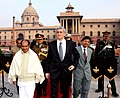 The French Defence Minister, Mr. Herve Morin accompanied by the Defence Minister, Shri A. K. Antony and other high level officials arriving at South Block, in New Delhi on January 25, 2008.jpg