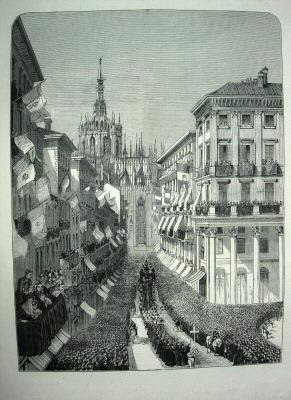 The Funeral Procession at Milan, Italy