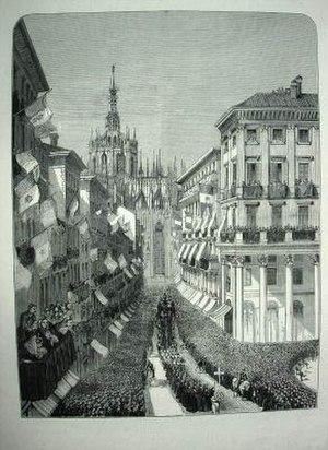 Alessandro Manzoni - Manzoni's funeral procession in Milan