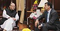 The Governor of Reserve Bank of India, Dr. Raghuram Rajan meeting the Union Minister for Finance, Corporate Affairs and Information & Broadcasting, Shri Arun Jaitley, in New Delhi on November 05, 2015.jpg