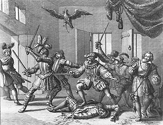 John Ruthven, 3rd Earl of Gowrie - The mayhem at Gowrie House imagined by the Dutch illustrator Jan Luyken