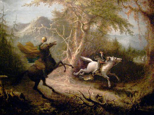 Most people know the Headless Horseman from Sleepy Hollow. But he does appear in earlier, darker folk tales as an omen of death or retribution.