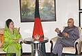 The Leader of Opposition Shri L.K. Advani calls on the Prime Minister of Bangladesh Ms Khaleda Zia, in New Delhi on March 22, 2006.jpg
