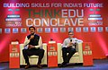 """The Minister of State for Information & Broadcasting, Col. Rajyavardhan Singh Rathore interacting at the THINKEDU CONCLAVE on """"Sports can be a key tool in a country's development"""", organised by the New Indian Express.jpg"""