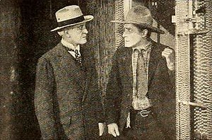 Winter Hall - Winter Hall and William S. Hart in The Money Corral (1919)
