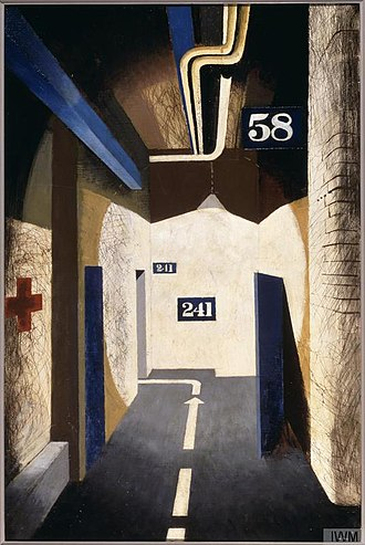 John Piper (artist) - The Passage to the Control-room at South West Regional Headquarters, Bristol (Art. IWM ART LD 170)