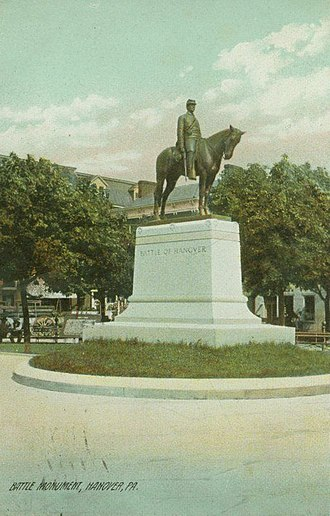 """Battle of Hanover - """"The Picket,"""" a commemorative statue in Hanover's Center Square; sculpted by Cyrus E. Dallin."""