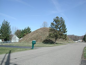 Athens Township, Athens County, Ohio - Adena Indian mounds at The Plains
