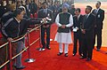The Prime Minister, Dr. Manmohan Singh and the Prime Minister of the Kingdom of Cambodia, Mr. Samdech Hun Sen are interacting with media at the ceremonial reception, in New Delhi on December 08, 2007.jpg