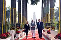 The Prime Minister, Shri Narendra Modi and the Prime Minister of Israel, Mr. Benjamin Netanyahu, at Teen Murti Chowk, in New Delhi on January 14, 2018 (1).jpg