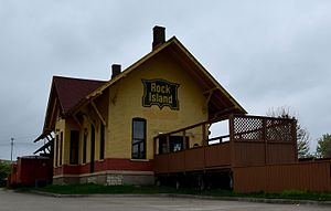 Rock Island Passenger Depot (Oskaloosa, Iowa) - Image: The Rock Island Passenger Depot
