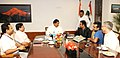 The Singer, Shri A.R. Rahman calling on the Minister of State for Culture (Independent Charge), Tourism (Independent Charge) and Civil Aviation, Dr. Mahesh Sharma, in New Delhi on July 28, 2015.jpg