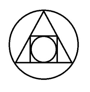 "Magnum opus (alchemy) - The Squared Circle: an Alchemical Symbol illustrating the interplay of the four elements of matter symbolizing the philosopher's stone; the result of the ""Great Work"""