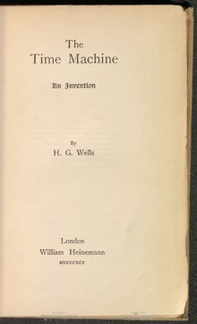 The Time Machine (H. G. Wells, William Heinemann, 1895).djvu
