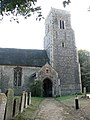 The church of All Saints - tower and north porch - geograph.org.uk - 1511368.jpg