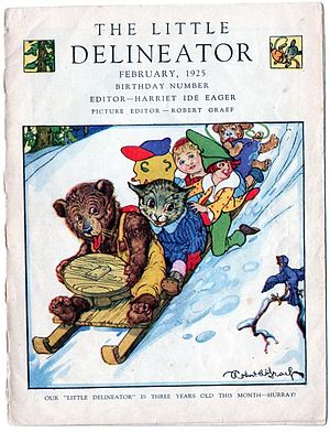 Butterick Publishing Company - The Little Delineator, February 1925 Cover.