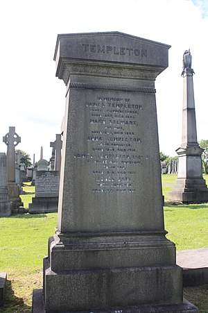 James Templeton & Co - The grave of James Templeton, Glasgow Necropolis