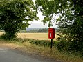 The lonely post box. - geograph.org.uk - 550518.jpg