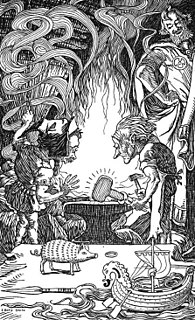 Brokkr Dwarf smith from Norse mythology