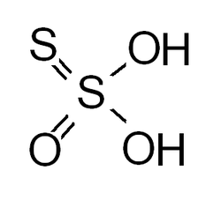 Thiosulfuric acid 2-D structure.png
