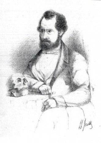 Thomas Bateman - Thomas Bateman as drawn by his close friend Llewellyn Jewitt c.1855
