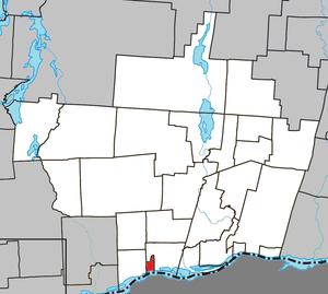 Thurso, Quebec - Image: Thurso Quebec location diagram