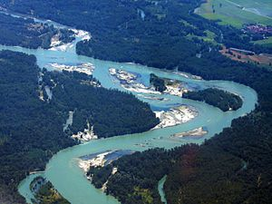 Ticino (river) - Part of the river Ticino, south of Milan-Malpensa Airport in Italy.