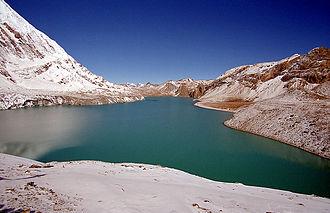 Himalayas - Tilicho lake in Manang, Nepal