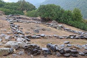 Timpone della Motta - The remains of Temple I on the acropolis of the Timpone della Motta