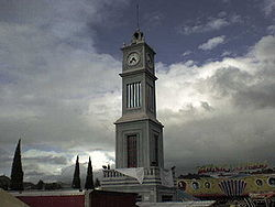 Monumental clock in Tlaxiaco
