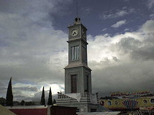 Tlaxiaco - Monumental clock in Tlaxiaco