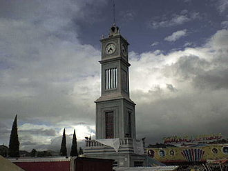 Tlaxiaco - Monumental clock in Tlaxiaco