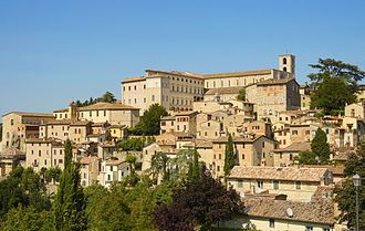 Todi - Panorama of the town.