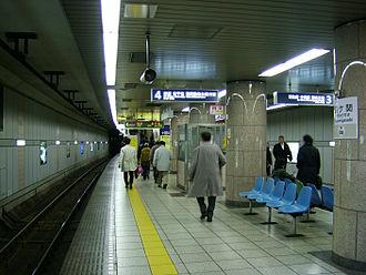 Kasumigaseki Station (Tokyo) - Hibiya Line platforms