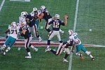 Game between the Miami Dolphins and the New England Patriots in 2009